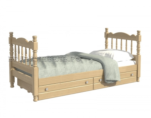 """Кровать """"Аленка"""" сосна"""