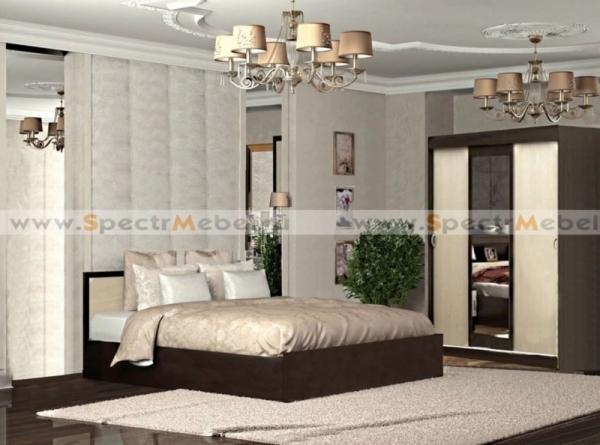 Спальный гарнитур Бася 2 с матрасом
