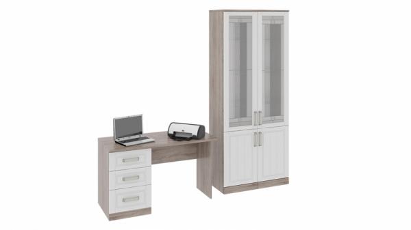 Набор мебели для офиса №3 «Прованс» (Дуб Сонома трюфель/Крем)