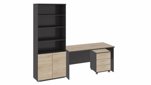 Стандартный набор офисной мебели «Успех-2» (Венге Цаво, Дуб Сонома)