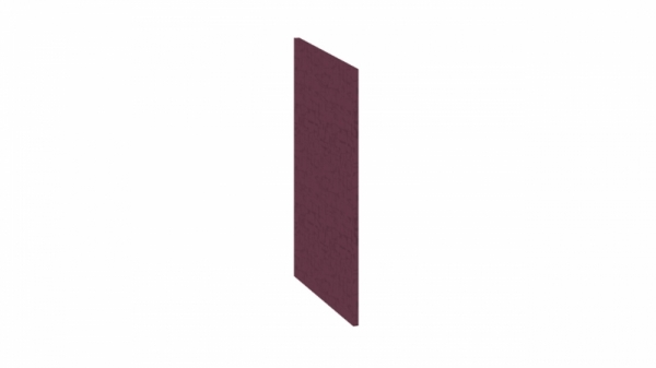 Панель боковая декоративная (Нижняя) (СИНГА (Баклажан))