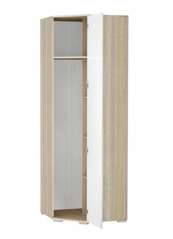 Шкаф угловой ВxШxГ 2120x724x724 мм светлый мдф