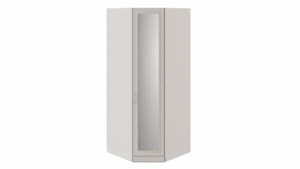 Шкаф угловой с 1 зеркальной дверью с опорой «Сабрина» (Кашемир)