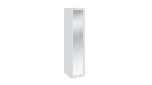 Шкаф для белья с 1-ой дверью с зеркалом «Ривьера» (Белый)