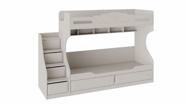 Кровать 2-х ярусная с приставной лестницей «Сабрина» (Кашемир)