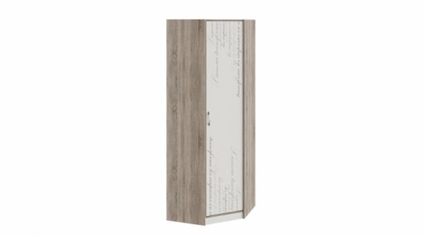 Шкаф угловой «Брауни» (Фон бежевый с рисунком/Дуб Сонома трюфель)