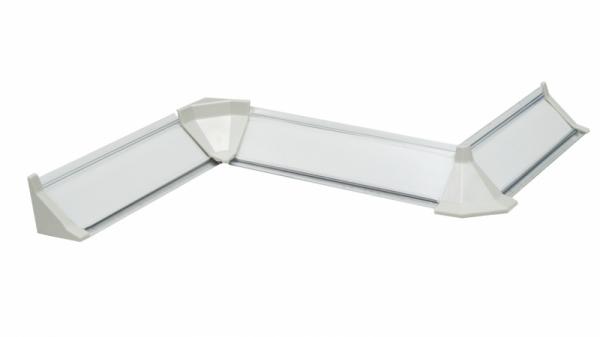 Плинтус кухонный пристенный (Белый)