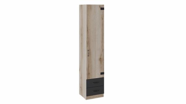 Шкаф для белья комбинированный «Окланд» (Фон Черный/Дуб Делано)