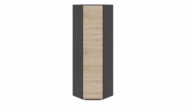 Шкаф для одежды угловой «Успех-2» (Венге Цаво, Дуб Сонома)