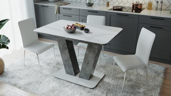 Стол раздвижной «Чинзано» Тип 1 (Моод темный/стекло белое матовое)