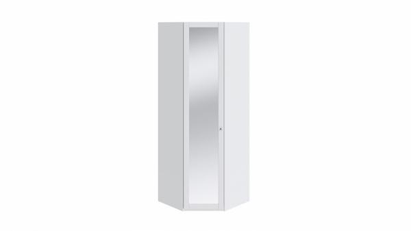 Шкаф угловой с 1-ой дверью с зеркалом «Ривьера» (Белый)
