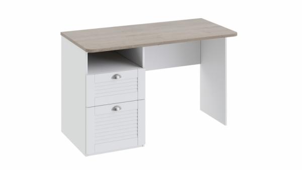 Письменный стол с ящиками «Ривьера» (Дуб Бонифацио/Белый)