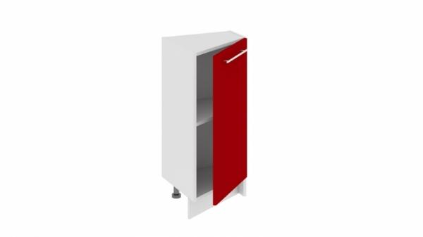 Шкаф напольный нестандартный торцевой НнТ_72-40(45)_1ДР (АССОРТИ (Вишня))