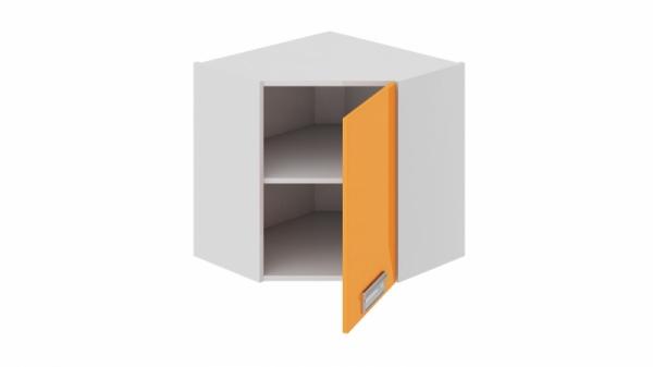 Шкаф навесной угловой с углом 45 (правый) ВУ45_60-(40)_1ДР(Б) (БЬЮТИ (Оранж))