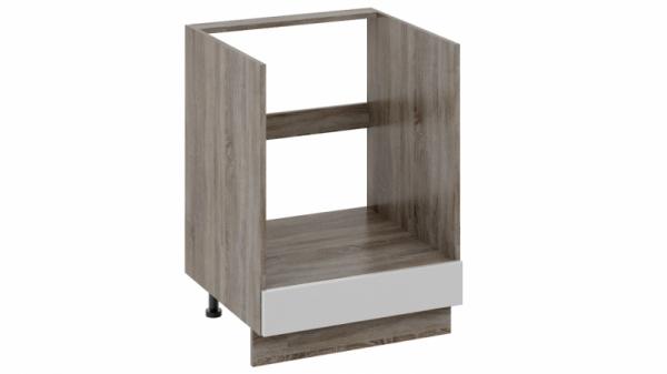 Шкаф напольный под бытовую технику с 1-м ящиком НБ1я_72(12)-60_1Я Молочная