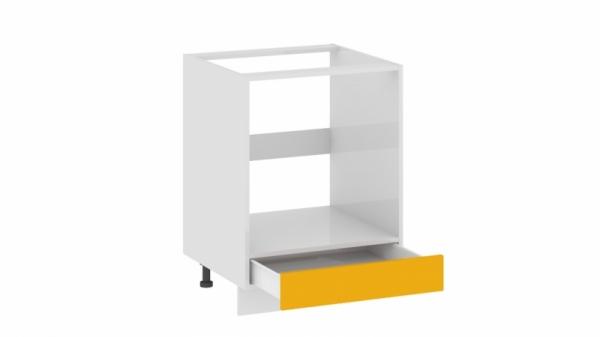 Шкаф напольный под бытовую технику с 1-м ящиком НБ1я_72(12)-60_1Я Желтая