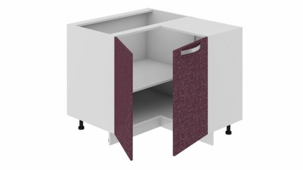 Шкаф напольный нестандартный угловой с углом 90° НнУ90_72_2ДР(НнУ) (Синга (Баклажан))