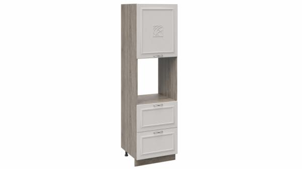 Шкаф пенал под бытовую технику с 2-мя ящиками П2Я_204-60_2Я1ДР(Д) (САБРИНА (Кашемир))