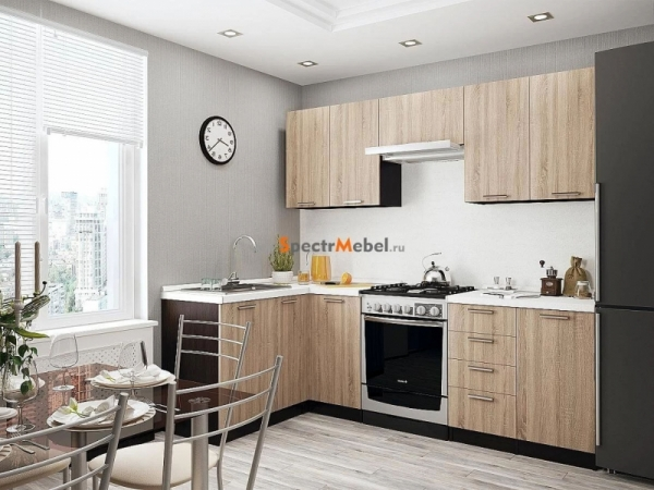 Кухня Брауни 04 3,4 м ЛДСП