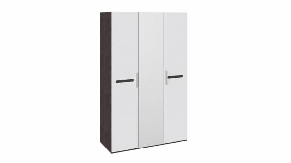 Шкаф комбинированный с 3-мя дверями «Фьюжн» (Белый глянец, Венге Линум)