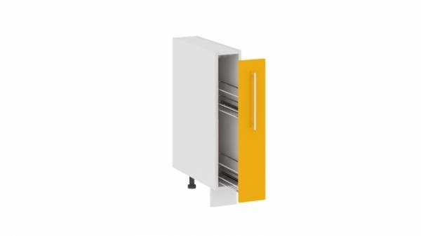 Шкаф напольный с выдвижной корзиной НВК_72-15_ВК (АССОРТИ (Лимон))