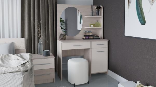 Стол туалетный «Эвита» (Ясень шимо/Фон бежевый)