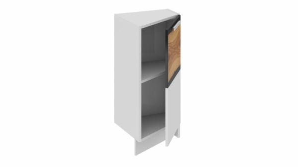 Шкаф напольный нестандартный торцевой (правый) НнТ_72-40(45)_1ДР(А) (Фэнтези (Вуд))