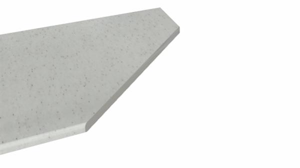 Крышка стола торцевая 600х1500 правая (Белый Камень)