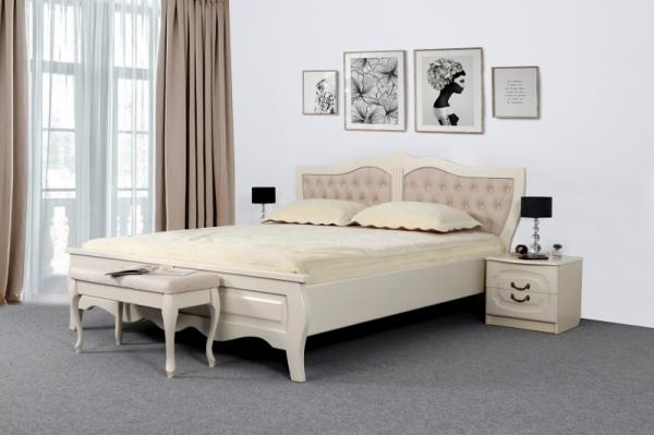"""Кровать """"Миднайт"""" Ясень жемчужный"""
