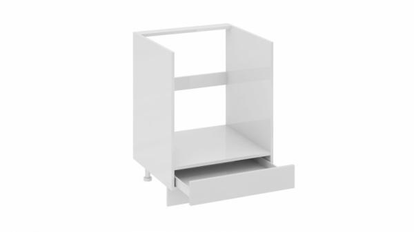 Шкаф напольный под бытовую технику с 1-м ящиком НБ1я_72(12)-60_1Я Белая