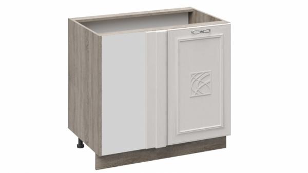 Шкаф напольный с планками для формирования угла с декором Н_72-90_1ДР(Д)пУ (САБРИНА (Кашемир))