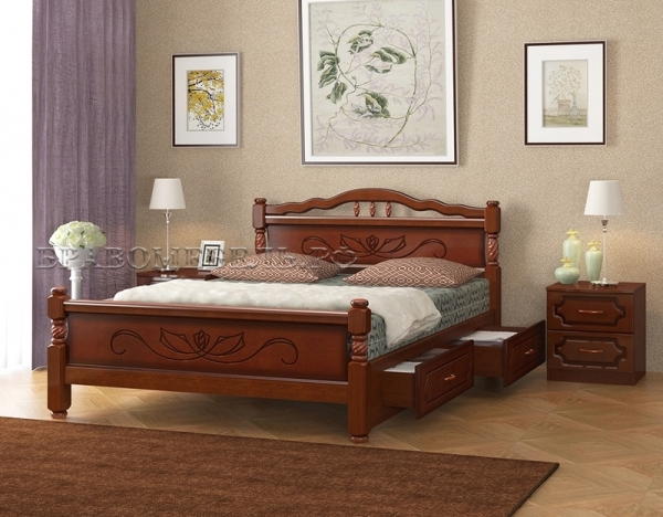 """Кровать """"Карина-5"""" орех"""