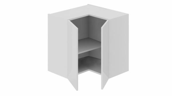 Шкаф навесной угловой с углом 90 ВУ90_60_2ДР(ВУ) (Фэнтези (Белый универс.))