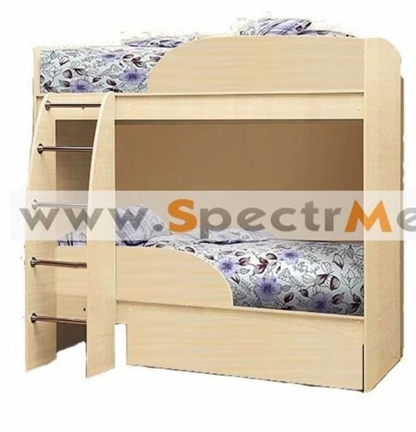 Кровать двухъярусная дуб