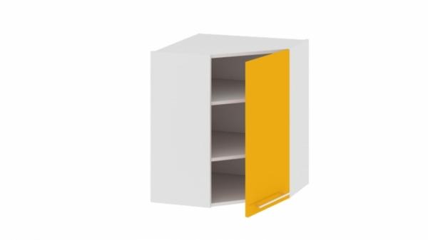 Шкаф навесной угловой с углом 45° ВУ45_72-(40)_1ДР Желтая 72 см