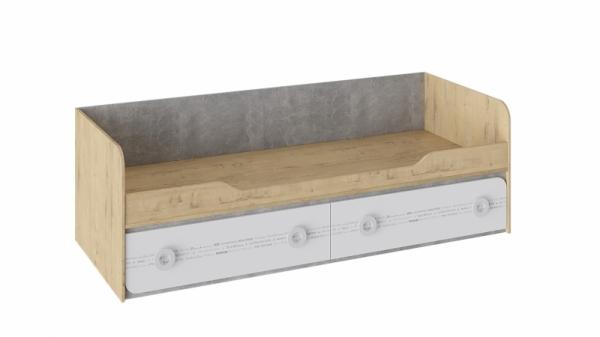Кровать с 2 ящиками «Мегаполис» (Бунратти/Белый с рисунком)
