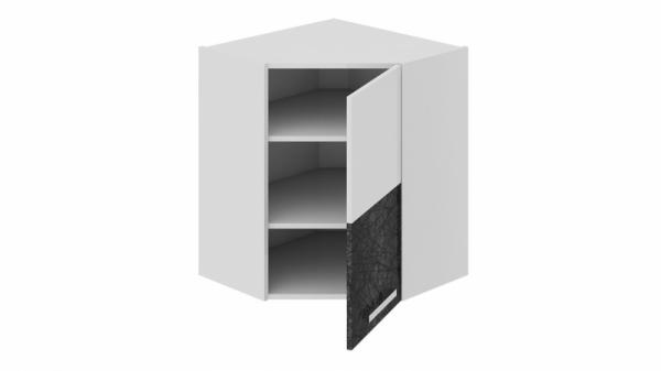 Шкаф навесной угловой с углом 45 (правый) ВУ45_72-(40)_1ДР(Б) Белая 72 см