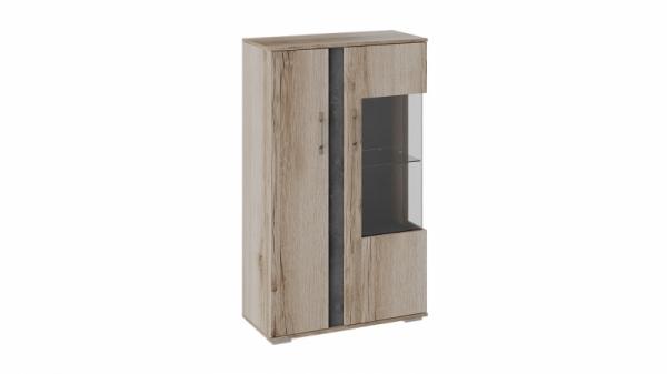 Шкаф комбинированный с двумя дверьми «Брайтон» (Камень/Дуб Делано)