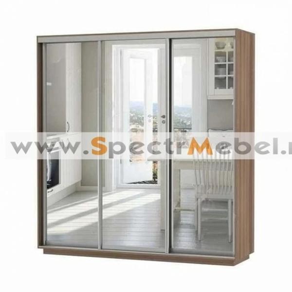 Шкаф купе трехдверный с зеркалами