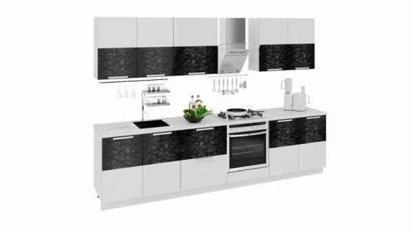 Кухонный гарнитур длиной - 300 см (со шкафом НБ) (ФЭНТЕЗИ (Лайнс))