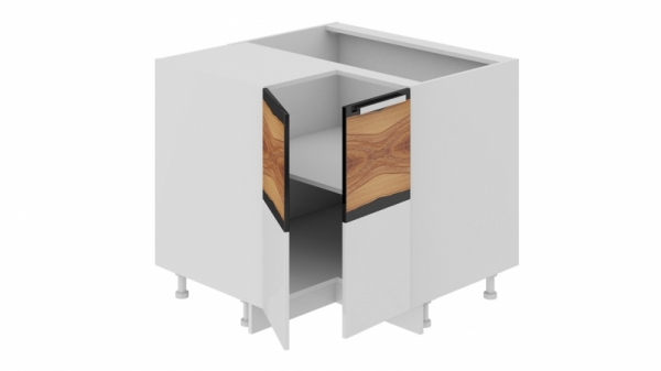 Шкаф напольный угловой с углом 90° НУ90_72_2ДР(НУ) (Фэнтези (Вуд))