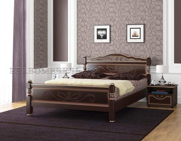 """Кровать """"Карина-5"""" орех тёмный"""