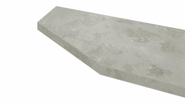 Крышка стола торцевая 40х450х1500 левая (Бетао)