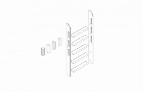 Пакет № 10 Прямая лестница и опоры для двухъярусной кровати