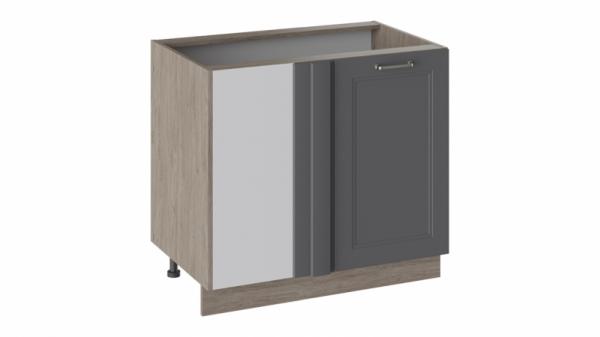 Шкаф напольный с планками для формирования угла Н_72-90_1ДРпУ Серая