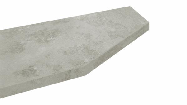 Крышка стола торцевая 40х450х1500 правая (Бетао)