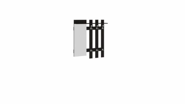Вешалка с крючками и зеркалом «Арт» (Венге Цаво)