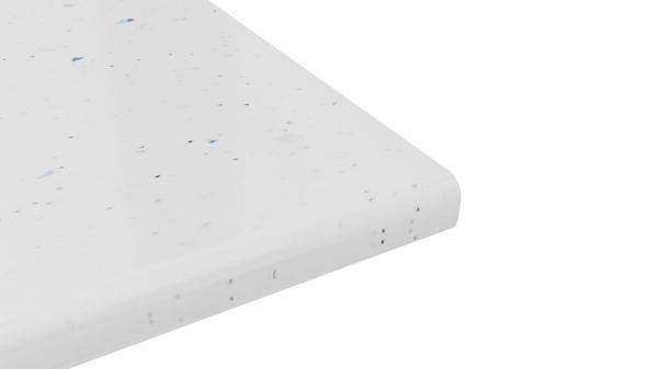 Крышка стола 40х600х1500 (Белая искра (Глянец))