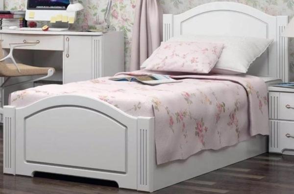 Кровать односпальная белая 22 мм