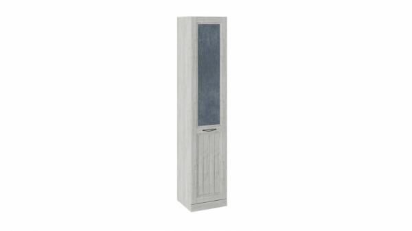 Шкаф для белья с 1 глухой дверью левый «Кантри» (Замша синяя/Винтерберг)